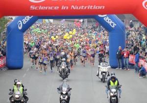La partenza della Maratona di Firenze 2015
