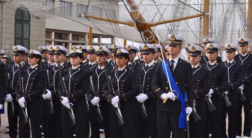 I cadetti della 1ª classe dell'Accademia Navale 2015