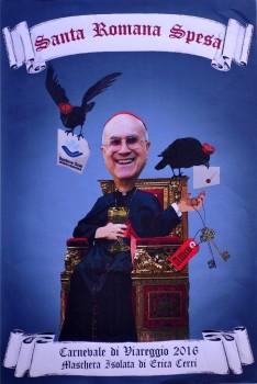 il bozzetto con il cardinal Bertone