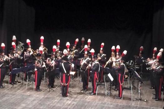 Il concerto della Fanfara della Scuola Marescialli al Teatro Signorelli