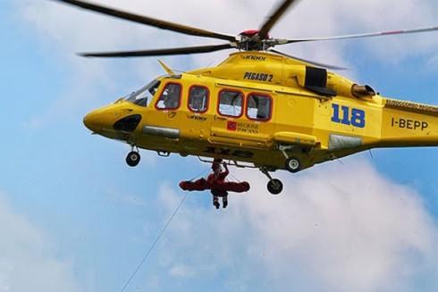 L'elicottero Pegaso 2 del 118