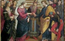 La pala d'altare Sposalizio della Vergine di Tommaso Lancisi