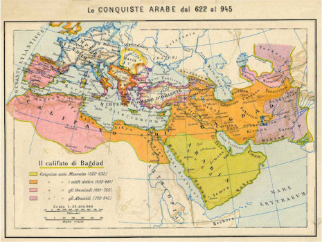 L'espansione degli Arabi fino al 945 dC