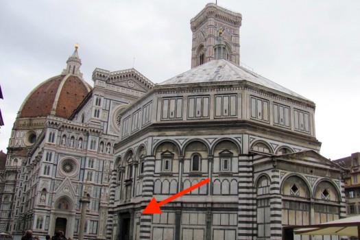 Battistero di Firenze, dov'è la Porta Nord