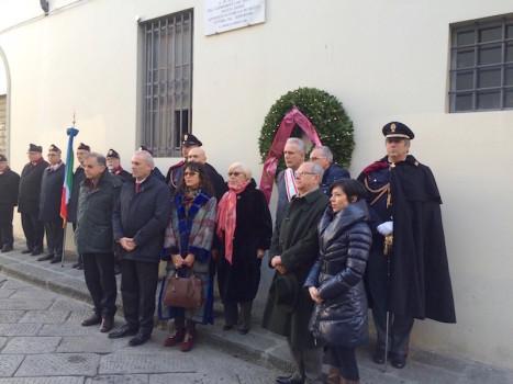 Il ricordo di Fausto Dionisi in via delle Casine a Firenze