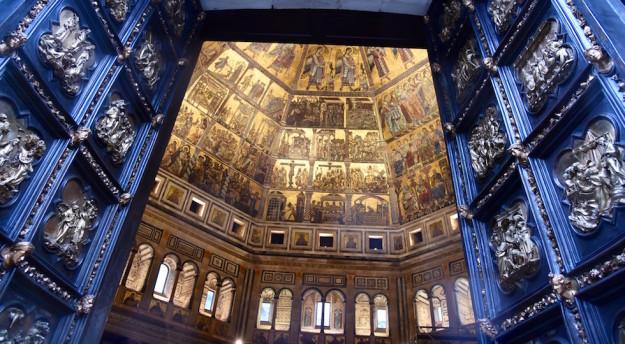 La 'nuova' Porta Nord del Battistero di Firenze (foto Opera del Duomo Firenze/ Claudio Giovannini)