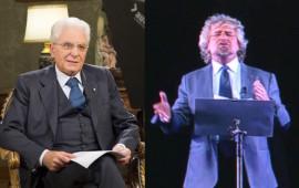 Sergio Mattarella e Beppe Grillo
