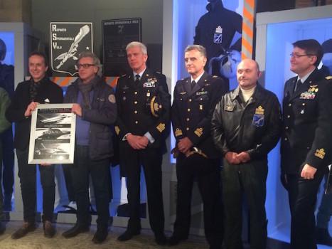 da sinistra Armando e Paolo Sperotto con i generali Caputo, Bianchi, Molteni e Fort