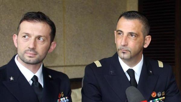 Salvatore Girone e Massililiano Latorre