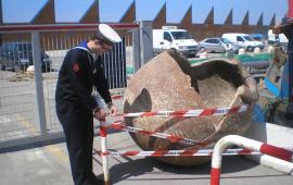 Il dolium trovato nelle acque di Viareggio