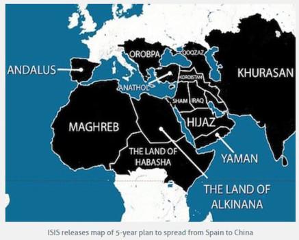 La mappa a 5 anni delle mire espansionistiche dell'Isis