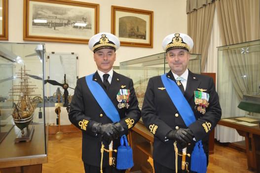 I contrammiragli Pierpaolo Ribuffo (a sin.) e Maurizio Ertreo