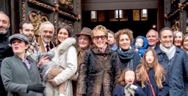Tutta la famiglia Marinelli il 23 gennaio 2016