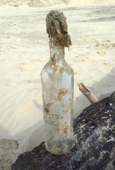 La bottiglia dopo 29 mesi in mare