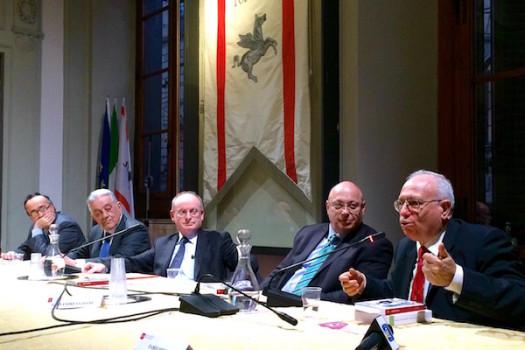 da destra: Fabio Mini, Gianandrea Gaiani, Carlo Corbinelli, Francesco Bosi, Francesco Butini