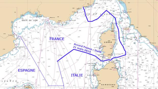 I nuovi confini marittimi Francia Italia secondo il sito francese Shom