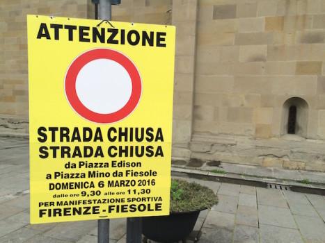 Deviazioni al traffico per la Firenze Fiesole domenica 6 marzo 2016