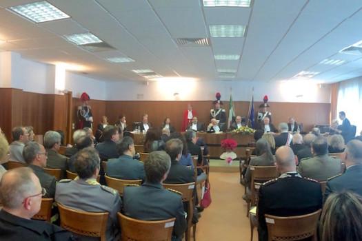 L'aula della Corte dei Conti a Firenze durante l'inaugurazione dell'anno giudiziario 2016