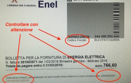 False bollette Enel ingannevoli