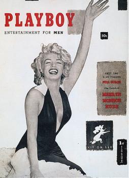 Marilyn Monroe sul primo numero di Playboy nel dicembre 1953