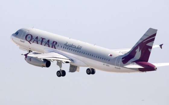 Un Airbus 320 di Qatar Airways