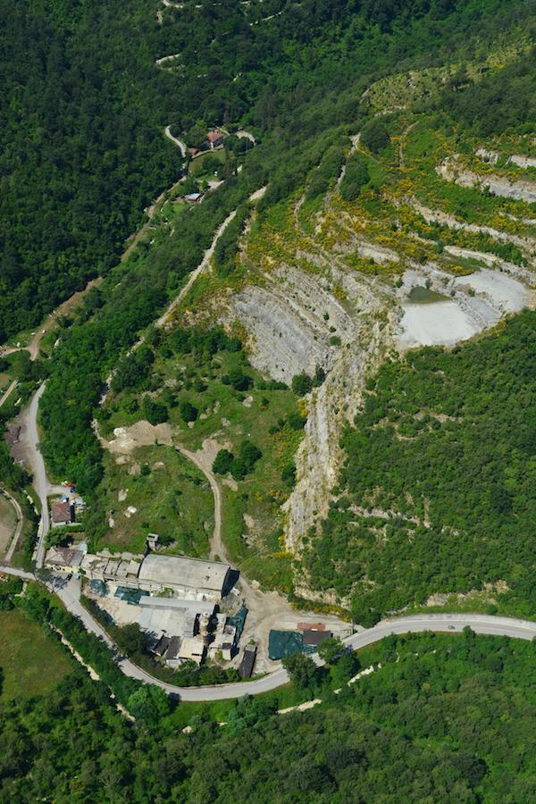 L'area dell'ex cava di Paterno nel comune di Vaglia