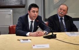 Matteo Isola e a destra il past governor Arrigo Rispoli