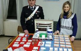 I prodotti illegali sequestrati dai Carabinieri di Cortona