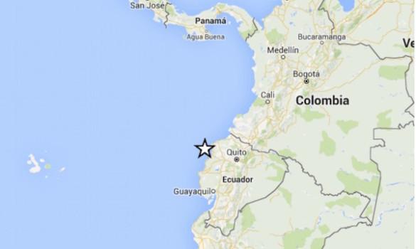 La zona del terremoto in Ecuador 2