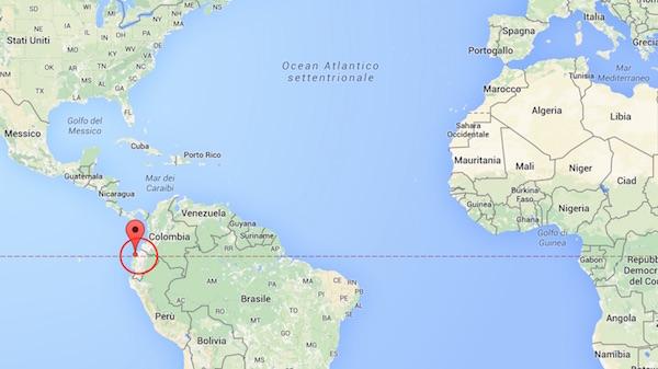 La zona del terremoto in Ecuador