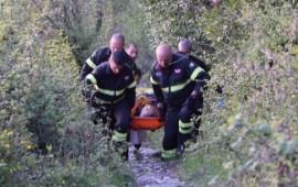 L'intervento dei soccorritori a Monte Morello