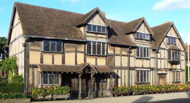 La casa natale di William Shakespeare a Stratford-upon-Avon
