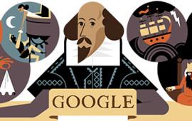 Il doodle in ricordo di William Shakespeare