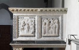 Firenze, ambone proveniente dalla Chiesa di San Pier Scheraggio (Foto concessa da Mount Tabor)