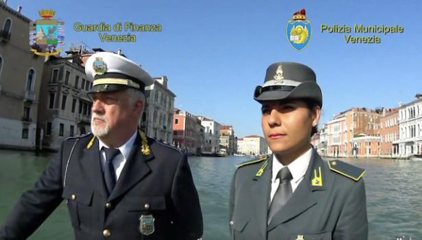 Guardia di Finanza e Polizia Municipale contro i furbetti a Venezia