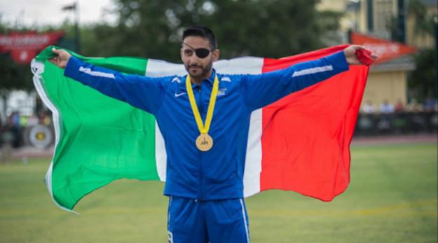 1° Caporalmaggiore Domenico Russo oro sui 100 metri