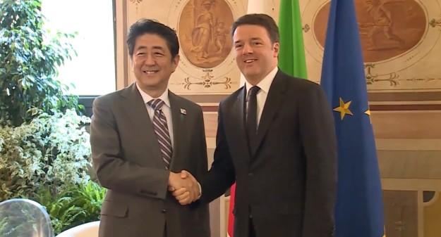 Matteo Renzi e Shinzo Abe