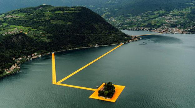 I pontili arancioni di Christo sul Lago d'Iseo saranno aperti dal 18 giugno al 3 luglio 2016
