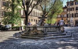 La fontana di piazza Santo Spirito a Firenze