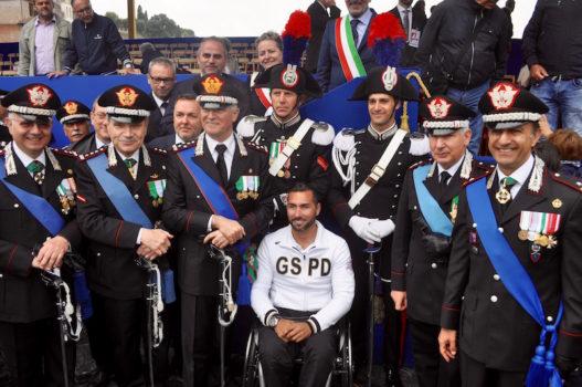 Il maresciallo Loreto Di Loreto con il Comandante Generale dei Carabinieri Del Sette (alla sua sin.) e alti ufficiali dell'Arma alla parata del 2 giugno 2016 a Roma