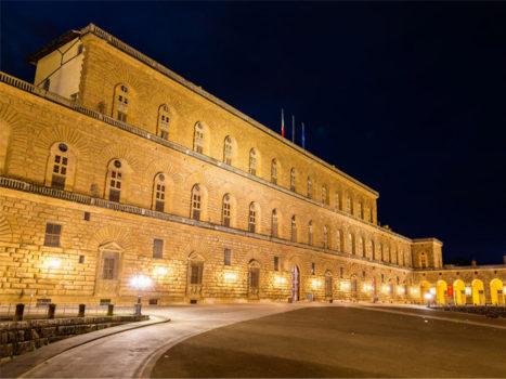 Nuova illuminazione su Palazzo Pitti grazie al Centro di Firenze per la Moda Italiana