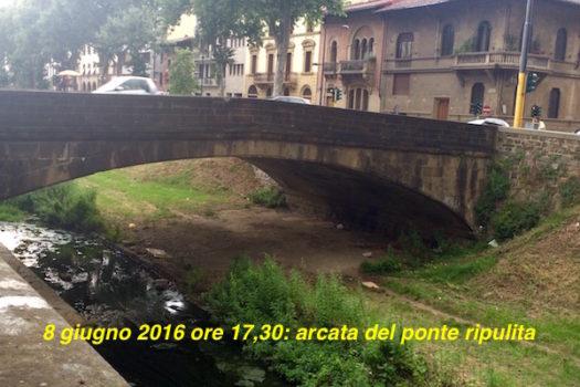 Ponte sul Mugnone ripulito