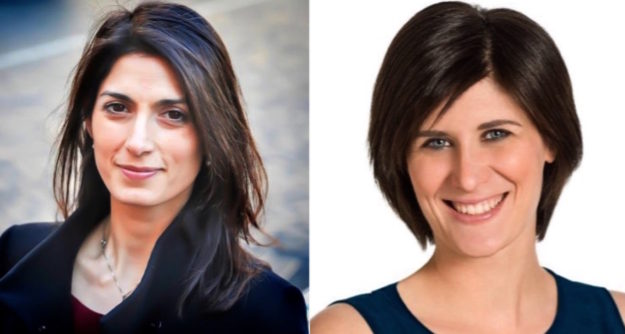 Virginia Raggi e Chiara Appendino, nuovi sindaci di Roma e Torino