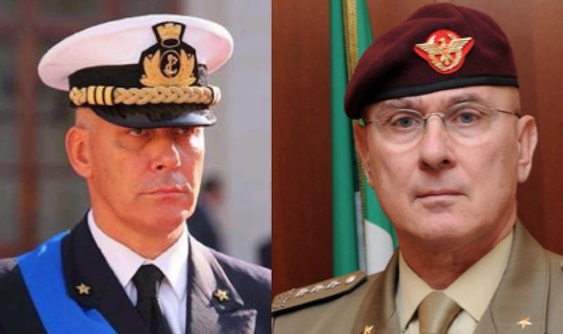 L'ammiraglio Giuseppe Cavo Dragone e il generale Marco Bertolini