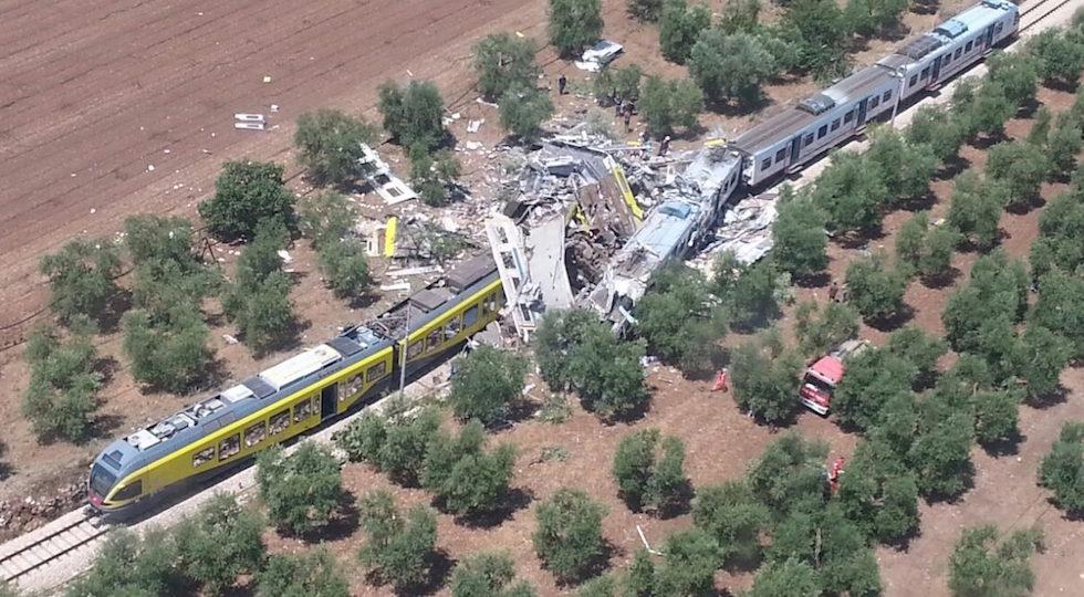 Il tragico scontro ferroviario in Puglia tra Andria e Corato