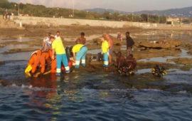 L'intervento dei soccorritori a Livorno