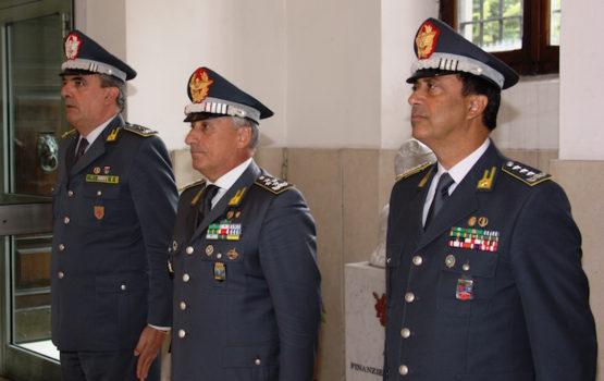 Da sin i generali Andrea De Gennaro, Giorgio Toschi, Edoardo Valente
