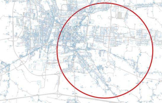 """La mappa della """"zona rossa"""" a Pistoia"""