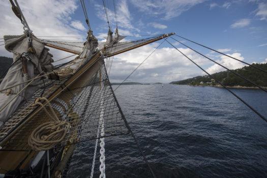 L'ingresso del Vespucci nel fiordo di Oslo