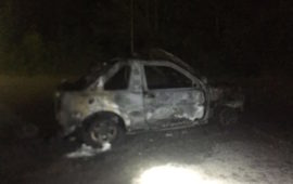L'auto dell'Associazione Carabinieri incendiata a Grassina